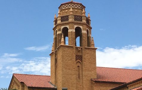 The Lubbock High School bell tower.
